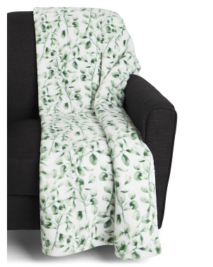 Eugina Eucalyptus Printed Loft Decorative Throw