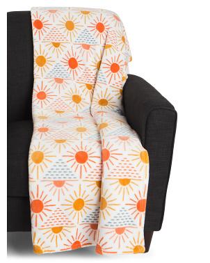 Gia Sun Printed Loft Decorative Throw