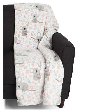 Kaylee Koala Printed Loft Decorative Throw
