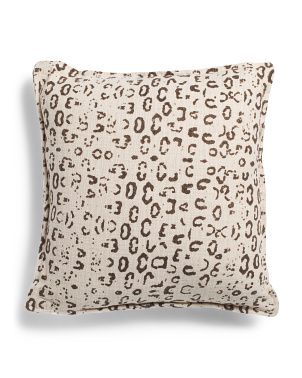 22x22 Textured Leopard Print Pillow