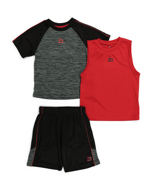 Little Boy 3pc Active Shorts Set