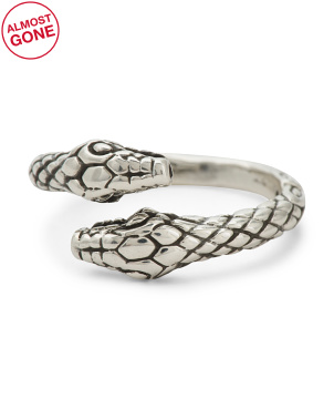 Made In Mexico Sterling Silver Snake Ring