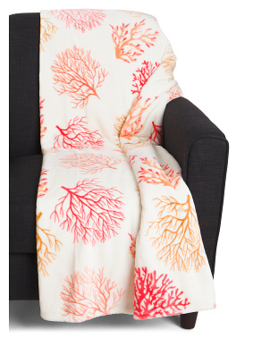Coral Coastal Throw
