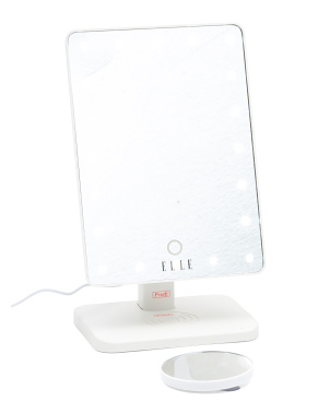 Rechargeable Vlogging Led Vanity Mirror With Bluetooth