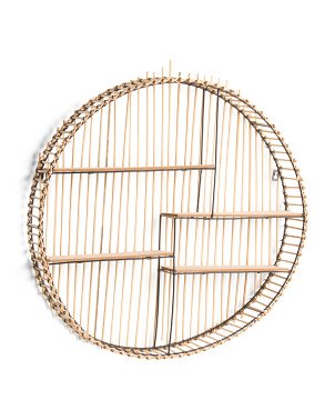 Bamboo Circle Wall Shelf