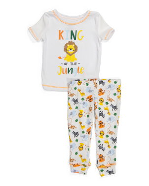 Toddler Boy 2pc Safari Hacci Sleep Set