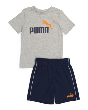 Little Boy Active Tee And Short Set