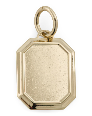 Handmade In Usa 14k Gold Plated Pendant Charm