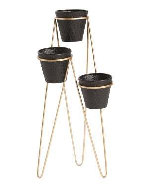 31in 3 Tier Metal Planter