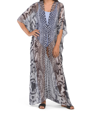 Snake Luxe Resort Cover-up Kimono