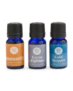 Set Of 3 Wellness Collection Essential Oils