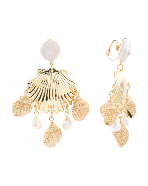 Lauren Shell Earrings