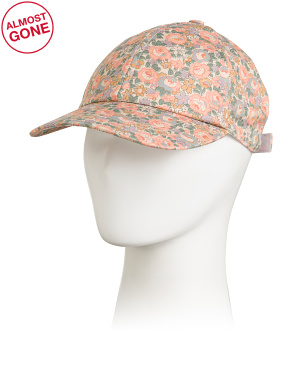 Made In Italy Canvas Liberty Floral Baseball Hat