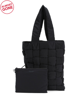 Made In Italy Nylon Padded Tote