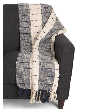 Striped Lightweight Throw