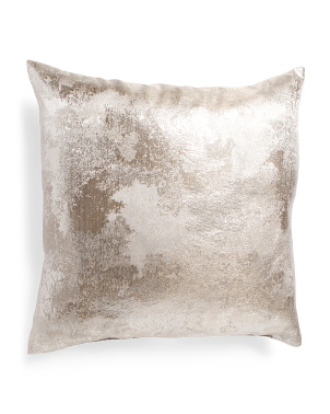 Made In Usa 22x22 Nikko Metallic Pillow