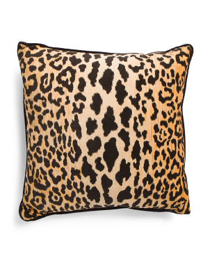 Made In Usa 22x22 Velvet Animal Pattern Pillow