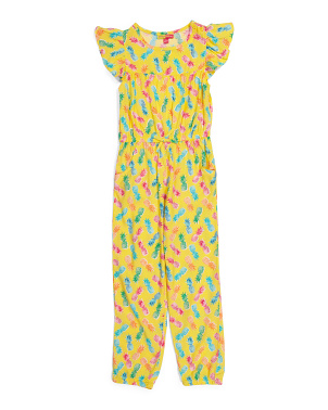 Big Girls Pineapple Jumpsuit