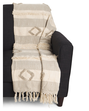 Lancelot Tufted Fringe Trim Throw