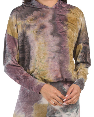 Juniors Made In Usa Tie Dye Hoodie