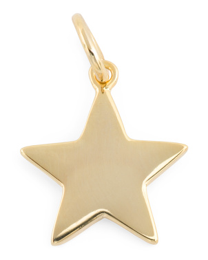 14k Gold Plated Sterling Silver Silver Star Charm