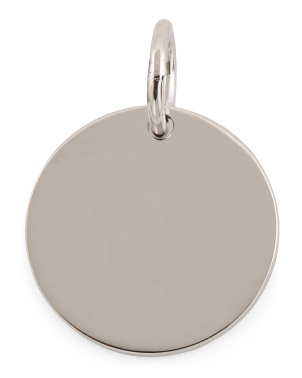 Sterling Silver Disc Charm