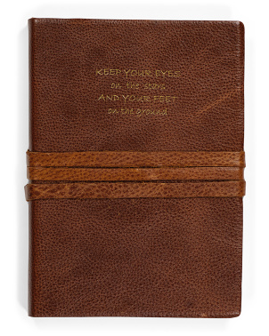 Made In Italy Leather Keep Your Eyes On The Stars Journal