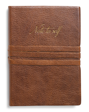 Made In Italy Leather Note To Self Journal