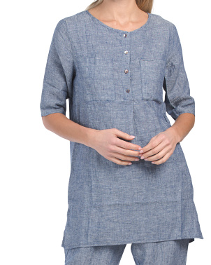 Linen Tunic With Buttons