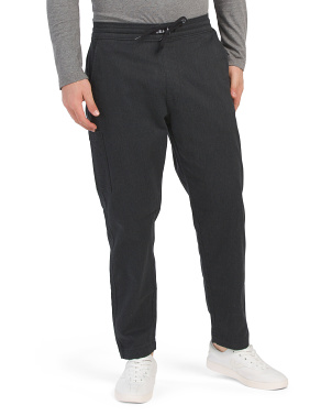 Tapered Pull On Stretch Chinos With Drawstring
