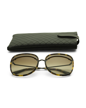 61mm Designer Square Sunglasses