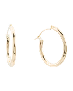 Made In Usa 14kt Gold 20 Mm Hoop Earring