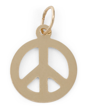 Made In Usa 14k Gold Peace Charm