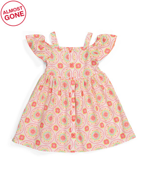 Toddler Girls Off Shoulder Dress
