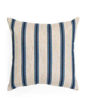Made In Usa 22x22 Indoor Outdoor Striped Pillow