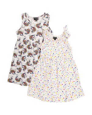 Big Girls 2pk Comfy Dresses