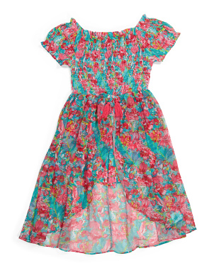 Big Girls Floral Walk Thru Romper