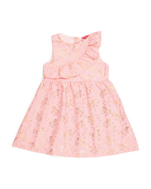 Toddler Girls Asymmetrical Ruffle Dress