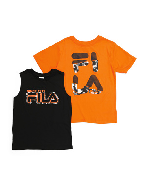 Big Boy 2pc Logo Muscle Tank & Tee Set