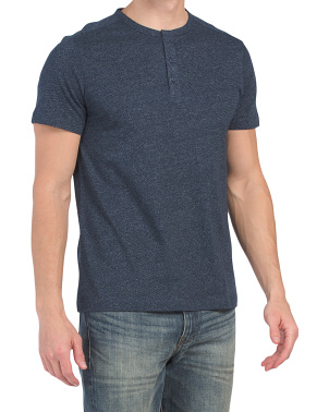 Short Sleeve Grindle Yarn Henley