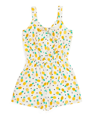Big Girls Pineapple Romper