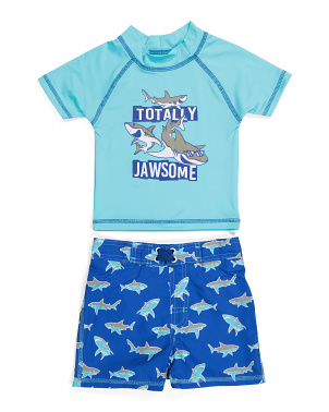 Little Boy 2pc Rashguard Swim Set