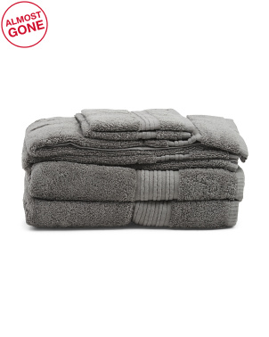 6pc Organic Cotton Towel Set