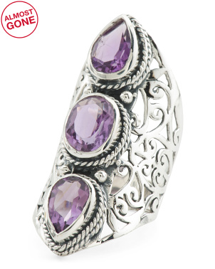 Made In India Sterling Silver Amethyst Ring