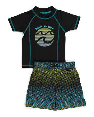 Little Boy Rash Guard Swim Set