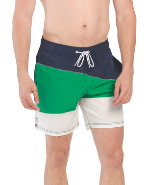 Color Block Volley Shorts