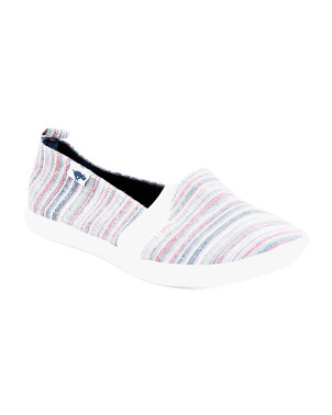 Striped Slip On Sneakers