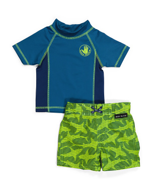 Toddler Boy Rash Guard Swim Set