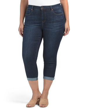 Plus High Rise Skinny Cropped Jeans