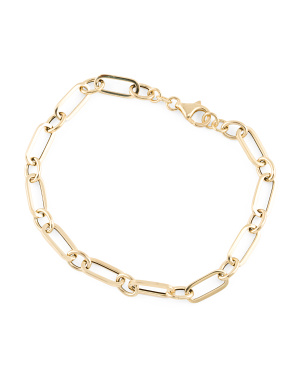 Made In Italy 14k Gold Chain Bracelet